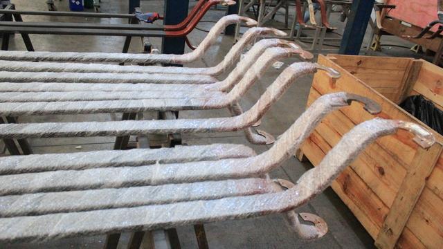 Troca dos terminais de 24 barras roebel em fábrica
