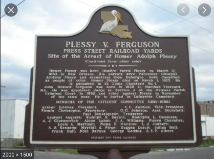 The Supreme Court Decision of Plessy v. Ferguson