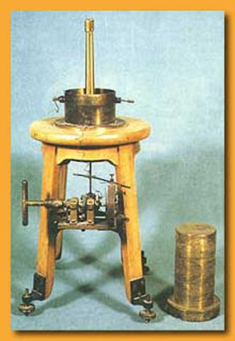 The invention Piezoelectric quartz Electrometer
