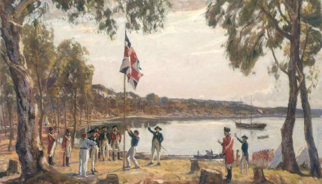 First fleet arrive in Sydney
