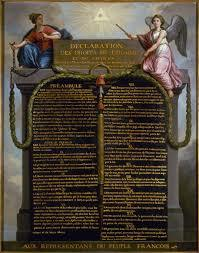 Publication of the Declaration of the Rights of Man and Citizen