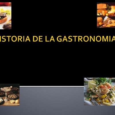 Historia de la gastronomía  timeline