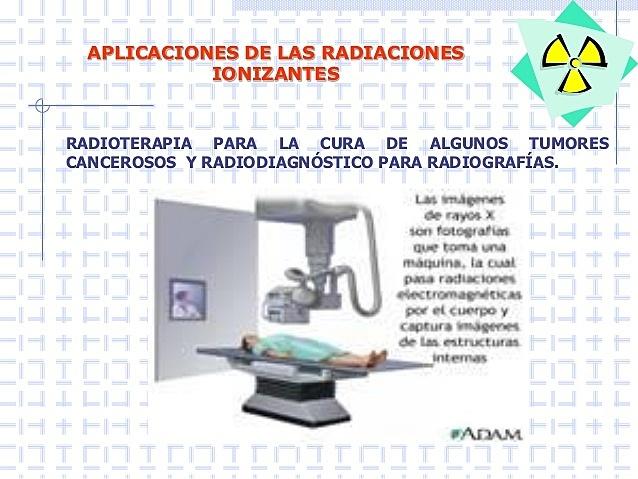 Aplicaciones desde 1928 hasta nuestros días de la radiación ionizante.