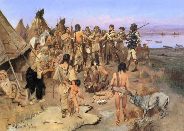 Oglala Sioux Meet the Lewis and Clark Expedition
