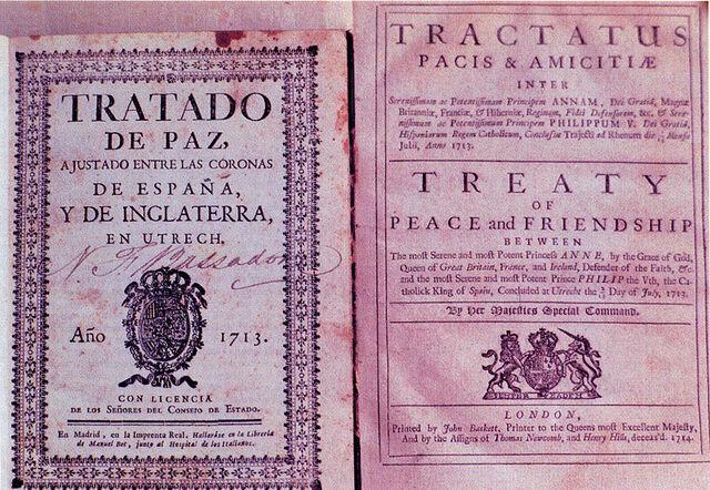 Signature du traité d'Utrecht