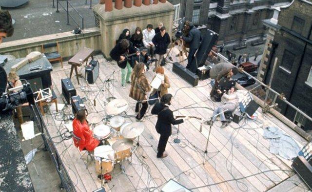 """Improvised presentation """"Rooftop Concert"""""""