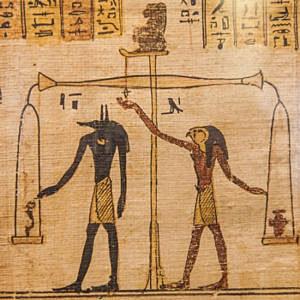 Criação da balança pelos Egípcios
