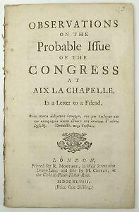 Le traité d'Aix-la-Chapelle