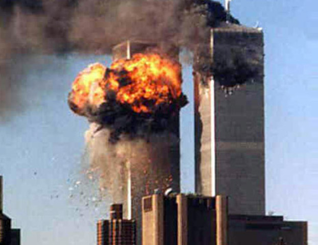Terrorists attack world trade center and pentagon