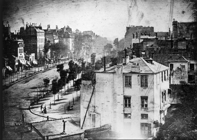Louis Daguerre's first daguerreotype