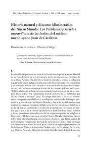 Tratado de historia natural por el Dr. Juan Cardenas