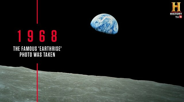 Photograph of the Earth is taken from the moon