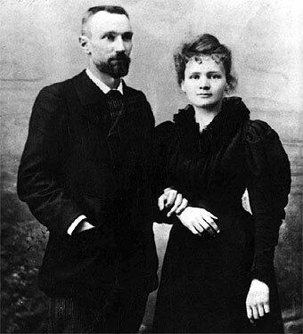 Antoine Henri Becquerel, Pierre y Marie Curie