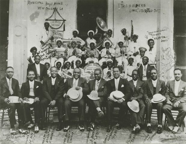 Louis Armstrong arrested, and sent to the Colored Waif's Home