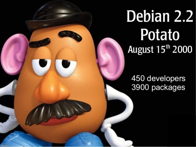 """Debian 2.2 """"Potato"""""""