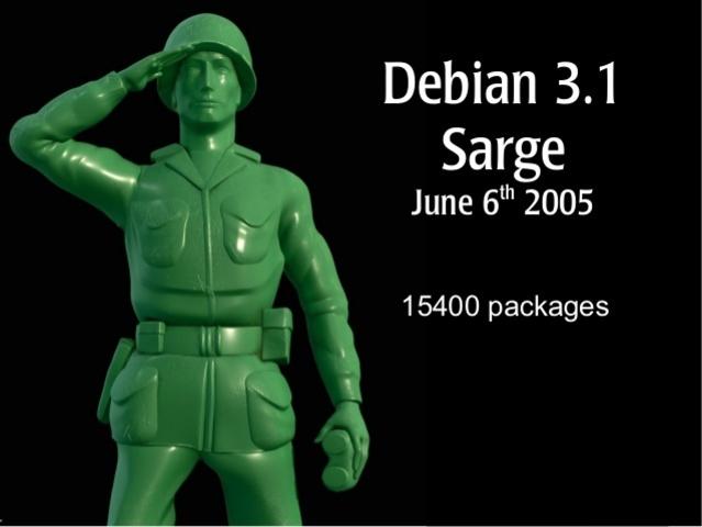 """Debian 3.1 """"Sarge"""""""