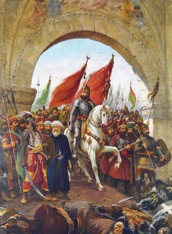 Els turs conquereixen Constantinoble
