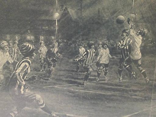 Se celebró el primer partido con luz eléctrica.