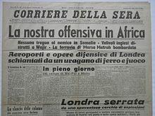 Le truppe italiane occupano la Somalia britannica