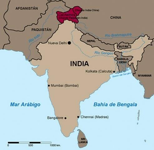 Ubicación de India