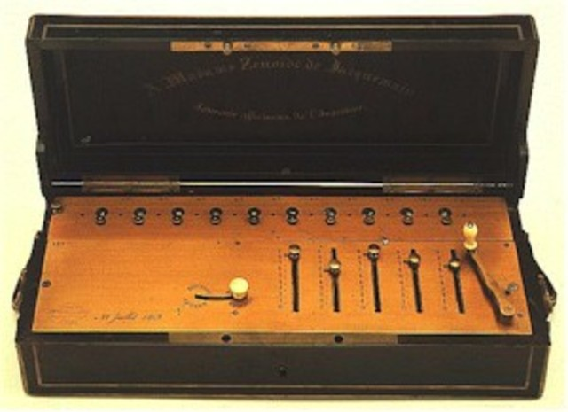 Arithmometer: The Arithmometer was the first mass-produced calculator invented by Charles Xavier Thomas de Colmar