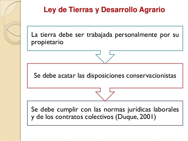 Ley de tierras y desarrollo agrario