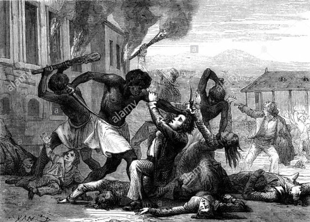 Slaves rise up on northern plantations of St. Domingue
