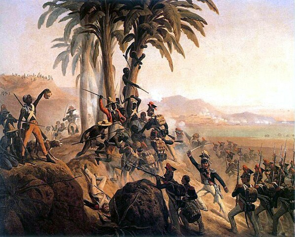 War of Knives begins for control of St. Domingue