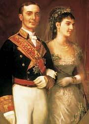 Alfonso XII se casa con María de las Mercedes de Orleans, que fallece meses más tarde.