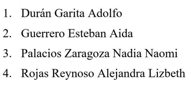 INTEGRANTES DEL EQUIPO: 1. Durán Garita Adolfo 2. Guerrero Esteban Aida 3. Palacios Zaragoza Nadia Naomi 4. Rojas Reynoso Alejandra Lizbeth