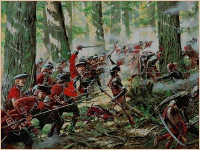 Étincelles entre les colonies françaises et britanniques de l'Amérique du Nord