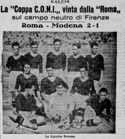 La Roma vince il suo primo scudetto