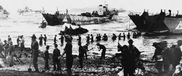Gli americani sbarcano a Gela, in Sicilia