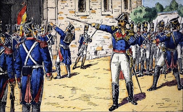 Pronunciamiento del coronel Rafael del Riego en Cabezas de San Juan (Sevilla)