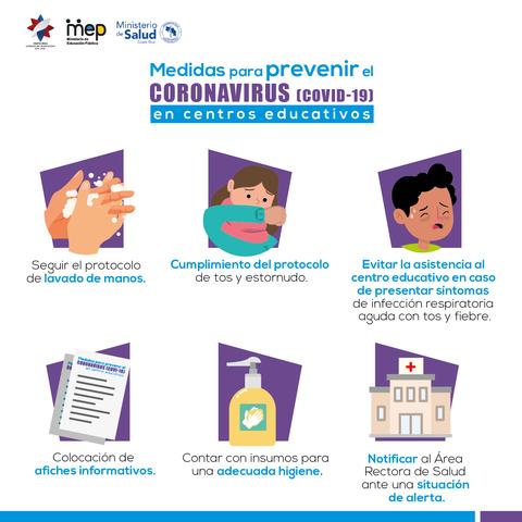 MEP emite lineamientos para enfrentar coronavirus