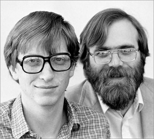 IBM hires Paul Allen and Bill Gates to create an operating system for a new PC. They buy the rights to a simple operating system manufactured by Seattle Computer Products and use it as a template to develop DOS