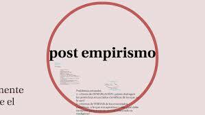 Post empirismo