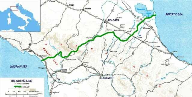 Sull'Appennino le formazioni partigiane occupano territorio oltre la Linea Gotica (una linea di difesa, creata dalle truppe tedesche)