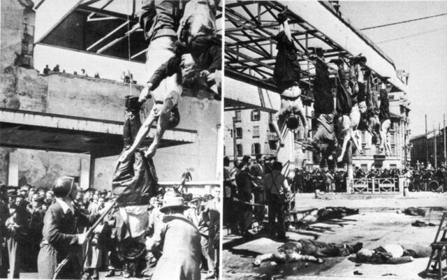 Mussolini e Claretta Petacci vengono condannati a morte ed esposti alla gogna pubblica
