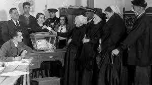 ley para reconocer el derecho de las mujeres al voto,