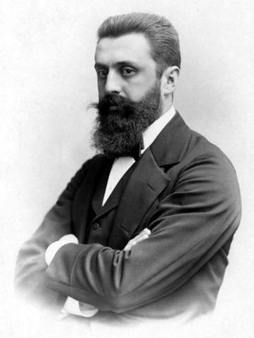 """Theodore Herzl publica """"El Estado judío""""."""