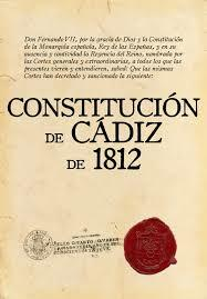 Constitución de Cádiz.