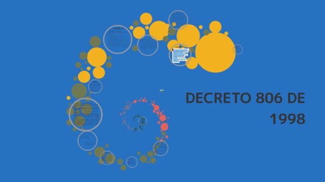 DECRETO 806