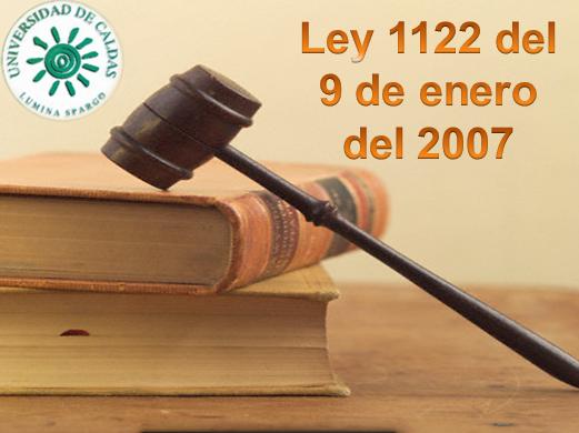 LEY 1122