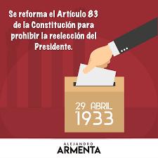 Prohibición de Reelección.
