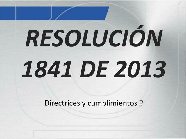 RESOLUCION 1841