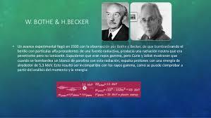 Bothe y Becker
