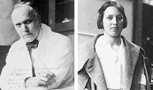 Herbert McLean Evans y Katharine Julia Scott Bishop