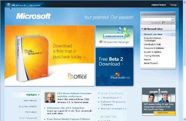 Microsoft.com comes online