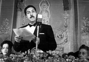 Miguel Alemán transmite el primer informe de gobierno en televisión
